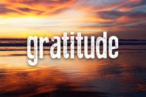 One word: Gratitude